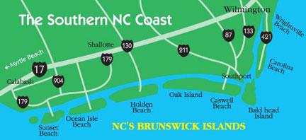 shallotte map shallotte nc vacation nc beaches