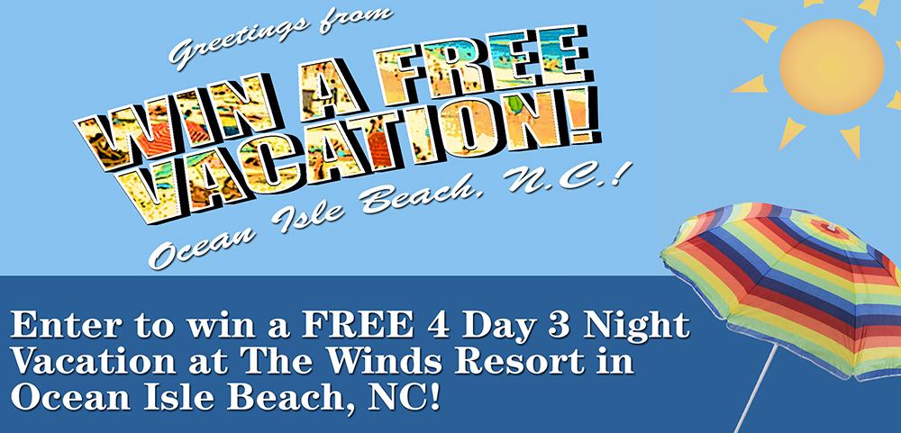 Ocean Isle Beach Free Vacation Giveaway